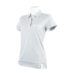 Polo Donna Heather Grey - Tre quarti