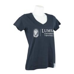 T-shirt Donna Navy - Tre quarti
